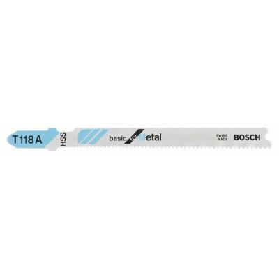 BOSCH Pílový list do priamočiarych píl T 118 A Basic for Metal
