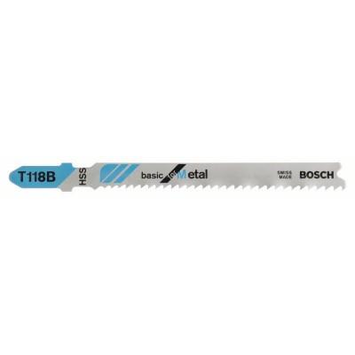 BOSCH Pílový list do priamočiarych píl T 118 B Basic for Metal