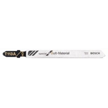 BOSCH Pílový list do priamočiarych píl T 113 A Special for Soft Material