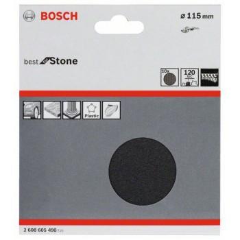 Bosch 10-dielna súprava brúsnych listov F355 115 mm, 120