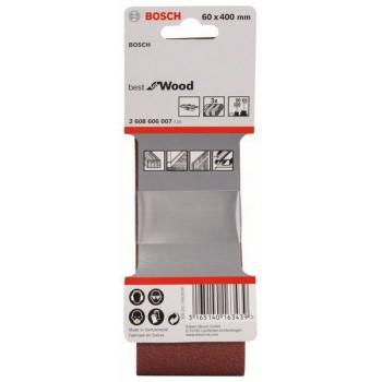 BOSCH 3-dielna súprava brúsnych pásov X440 60 x 400 mm, 60</br> 80</br> 100