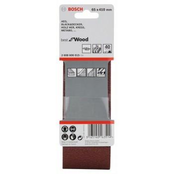 BOSCH 3-dielna súprava brúsnych pásov X440 65x410mm, 40