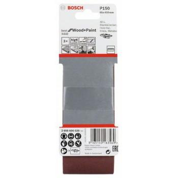 BOSCH 3-dielna súprava brúsnych pásov X440 65x410mm, 150