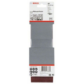 BOSCH 3-dielna súprava brúsnych pásov X440 75x457mm, 40