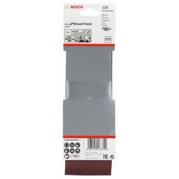 BOSCH 3-dielna súprava brúsnych pásov X440 75x457mm, 120