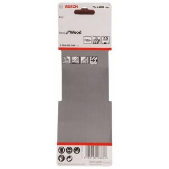 BOSCH 3-dielna súprava brúsnych pásov X440 75x480mm, 80