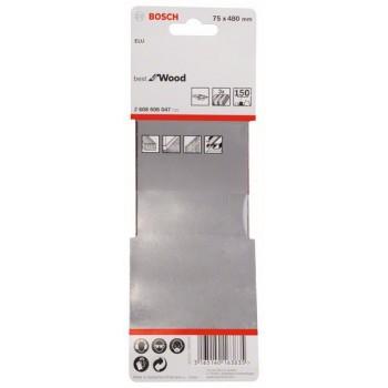BOSCH 3-dielna súprava brúsnych pásov X440 75x480mm, 150
