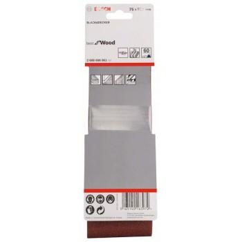 BOSCH 3-dielna súprava brúsnych pásov X440 75x508mm, 60