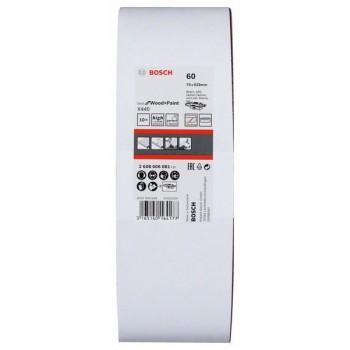 BOSCH 10-dielna súprava brúsnych pásov X440 75x533mm, 60