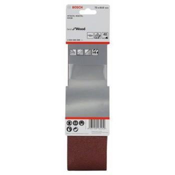 BOSCH 3-dielna súprava brúsnych pásov X440 75x610mm, 40