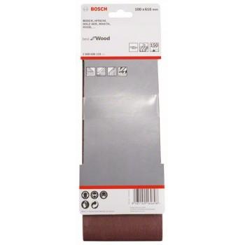 BOSCH 3-dielna súprava brúsnych pásov X440 100x610mm, 150