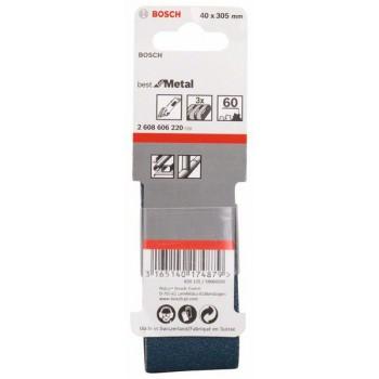 BOSCH 3-dielna súprava brúsnych pásov X450 40x305mm, 60