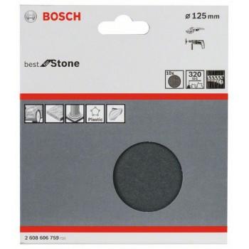 Bosch 10-dielna súprava brúsnych listov F355 125 mm, 320