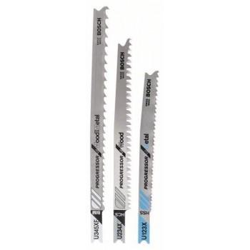 BOSCH 3-dielna súprava pílových listov do priamočiarych píl U 123 XF</br> U 234 X</br> U 345 XF