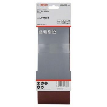 BOSCH 3-dielna súprava brúsnych pásov X440 100x610mm, 120