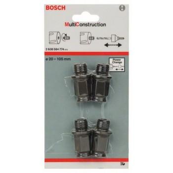 BOSCH 4-dielna súprava adaptérov -