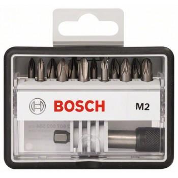 BOSCH 12+1-dielna súprava skrutkovacích hrotov Robust Line M Extra Hart 25 mm, 12+1-dielna súprava