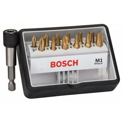 BOSCH 12+1-dielna súprava skrutkovacích hrotov Robust Line M Max Grip 25 mm, 12+1-dielna súprava