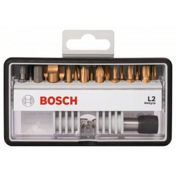 BOSCH 18+1-dielna súprava skrutkovacích hrotov Robust Line L Max Grip 25 mm, 18+1-dielna súprava