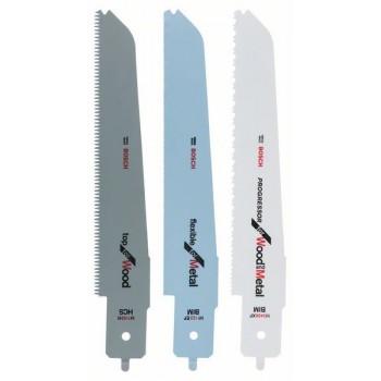 BOSCH 3-dielna súprava pílových listov pre multipílu Bosch PFZ 500 E M 1142 H; M 3456 XF; M 1122 EF