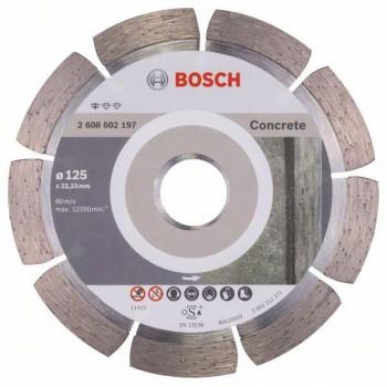 BOSCH Diamantový rezací kotúč Standard for Concrete 125 x 22,23 x 1,6 x 10 mm