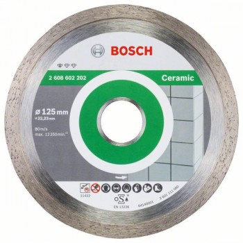 BOSCH Diamantový rezací kotúč Standard for Ceramic 125 x 22,23 x 1,6 x 7 mm