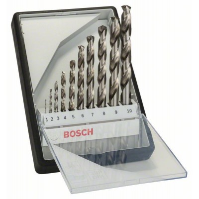 Bosch 10-dielna súprava vrtákov do kovu Robust Line HSS-G, 135° 1</br> 2</br> 3</br> 4</br> 5</br> 6</br> 7</br> 8</br> 9</br> 10 mm, 135°