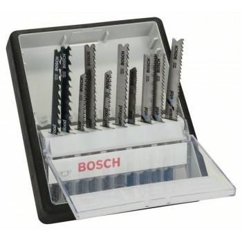 BOSCH 10-dielna súprava pílových listov do priamočiarej píly Robust Line Wood and Metal, so stopkou T T 244 D</br> T 144 D</br> T 101 AO</br> T 101 B</br> T 101 AOF</br> T 101 BF</br> T 118 EOF</br> T 118 AF</br> T 118 BF</br> T 123 X