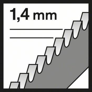 BOSCH Pílový list do priamočiarych píl T 118 EFS Basic for Inox