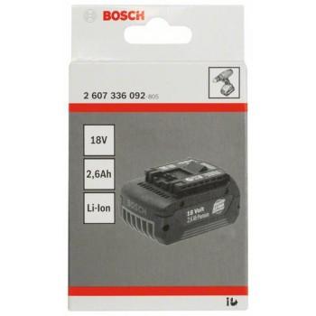 BOSCH 18 V-zásuvný akumulátor Standard Duty (SD), 2,6 Ah, Li-Ion, GBA M-C