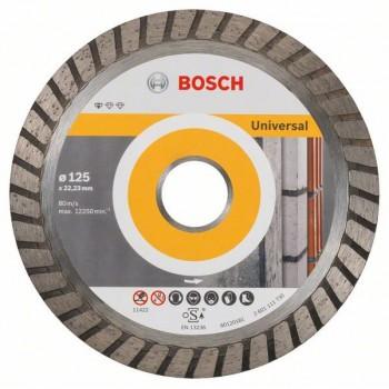 BOSCH Diamantový rezací kotúč Standard for Universal Turbo 125 x 22,23 x 2 x 10 mm