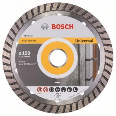 BOSCH Diamantový rezací kotúč Standard for Universal Turbo 150 x 22,23 x 2,5 x 10 mm