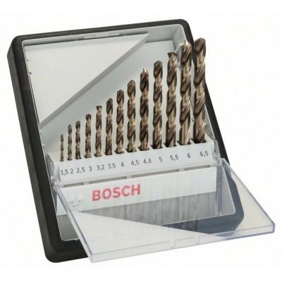 BOSCH 13-dielna súprava vrtákov do kovu Robust Line HSS-Co 1,5</br> 2</br> 2,5</br> 3</br> 3,2</br> 3,5</br> 4</br> 4,5</br> 4,8</br> 5</br> 5,5</br> 6</br> 6,5 mm