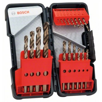 BOSCH 18-dielna súprava vrtákov do kovu Toughbox HSS-Co, DIN 338, 135° 1</br> 1,5</br> 2</br> 2,5</br> 3</br> 3,5</br> 4</br> 4,5</br> 5</br> 5,5</br> 6</br> 7</br> 8</br> 9</br> 10 mm