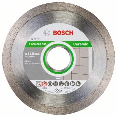 BOSCH Diamantový rezací kotúč Standard for Ceramic 110 x 22,23 x 1,6 x 7,5 mm