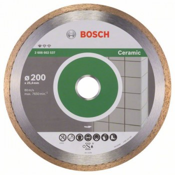 BOSCH Diamantový rezací kotúč Standard for Ceramic 200 x 25,40 x 1,6 x 7 mm