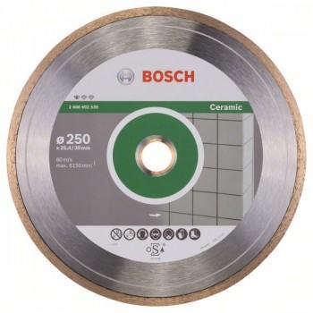 BOSCH Diamantový rezací kotúč Standard for Ceramic 250 x 30+25,40 x 1,6 x 7 mm