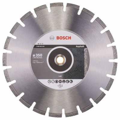 BOSCH Diamantový rezací kotúč Standard for Asphalt 350 x 20/25,40 x 3,2 x 10 mm
