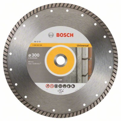 BOSCH Diamantový rezací kotúč Standard for Universal Turbo 300 x 22,23 x 3 x 10 mm