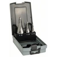 Bosch 3-dielna súprava stupňovitých vrtákov HSS 4-