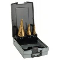Bosch 3-dielna súprava stupňovitých vrtákov HSS-Ti
