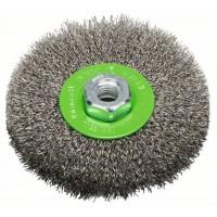 Bosch Kotúčová kefa, nehrdzavejúca 115 mm, 0,3 mm,
