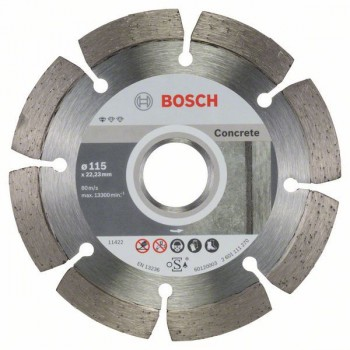 BOSCH Diamantový rezací kotúč Standard for Concrete 115 x 22,23 x 1,6 x 10 mm
