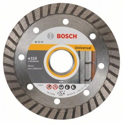 BOSCH Diamantový rezací kotúč Standard for Universal Turbo 115 x 22,23 x 2 x 10 mm