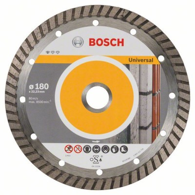 BOSCH Diamantový rezací kotúč Standard for Universal Turbo 180 x 22,23 x 2,5 x 10 mm