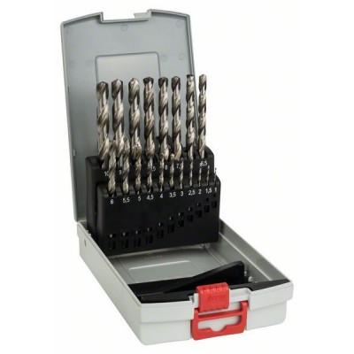BOSCH 19-dielna súprava vrtákov do kovu ProBox HSS-G, DIN 338, 135° 1-10 mm