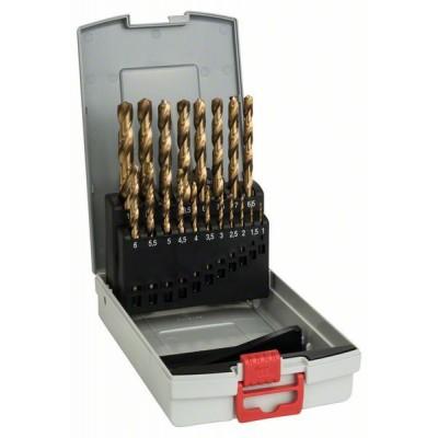 BOSCH 19-diel. HSS-TiN súprava vrtákov do kovu ProBox (titánová vrstva) 1-10 mm