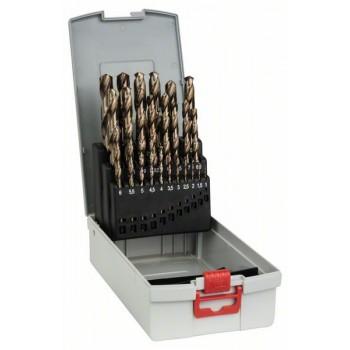 BOSCH 25-dielna súprava vrtákov do kovu ProBox HSS-Co, DIN 338 (kobaltová zliatina) 1-13 mm