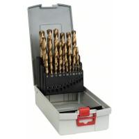 Bosch 25-diel. HSS-TiN súprava vrtákov do kovu Pro