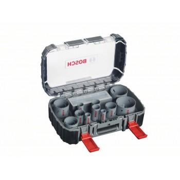 BOSCH 11-dielna súprava HSS bimetalových dierových píl pre elektrikárov 22</br> 29</br> 35</br> 44</br> 51</br> 65 mm